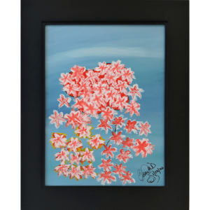 Original Oil Painting Orange Flowers