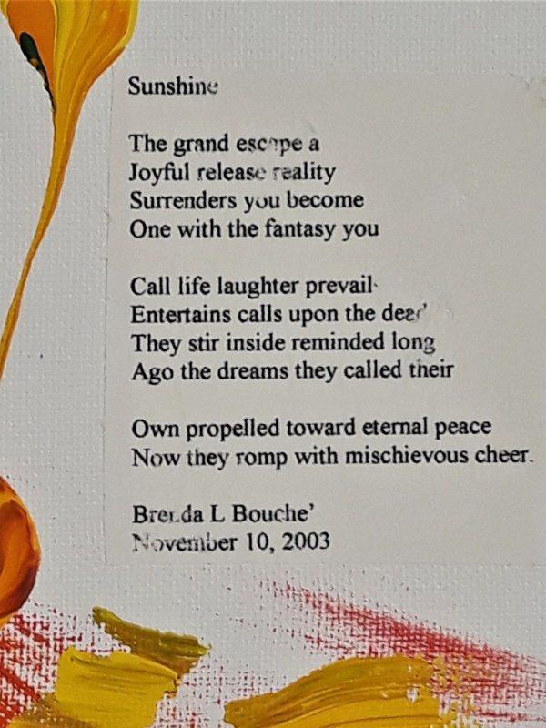 Original Poetry Painting Sunshine Poem