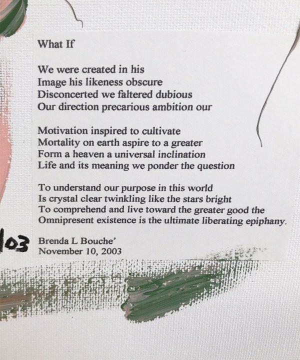 Original Poetry Painting What If Poem