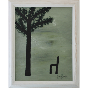 Original Oil Painting Tree Chair