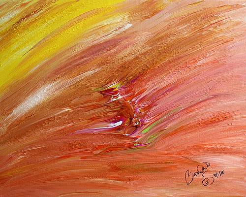 Abstract Acrylic Art Nyx Mons