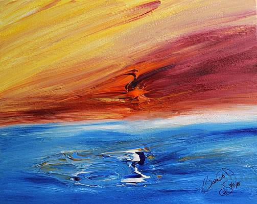Abstract Acrylic Art Tuulikki Mons