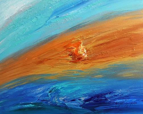 Abstract Acrylic Art Nectaris Mons