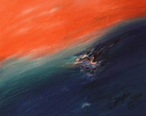 Abstract Acrylic Art Rakapila Mons