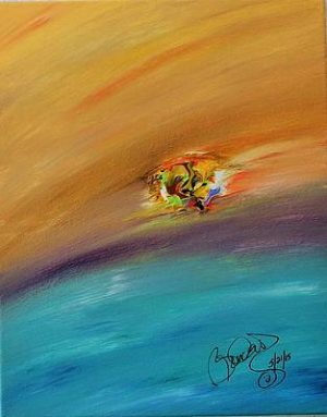 Abstract Acrylic Art Abeona Mons by Brenda Basham Dothage