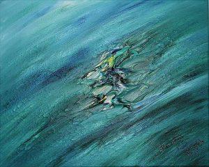 Abstract Acrylic Art Waka Mons