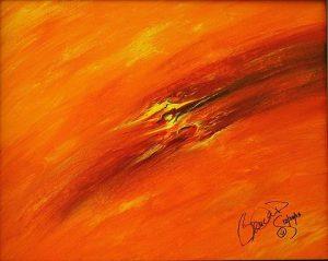 Abstract Acrylic Art Yolkai-Estsan Mons