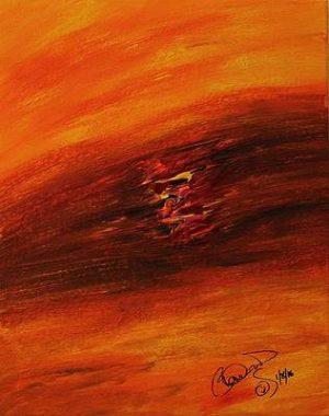 Abstract Acrylic Art Chuginadak Mons