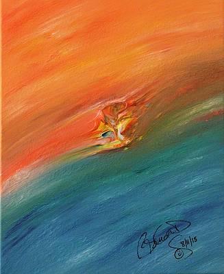 Abstract Acrylic Art Bagbartu Mons by Brenda Basham Dothage
