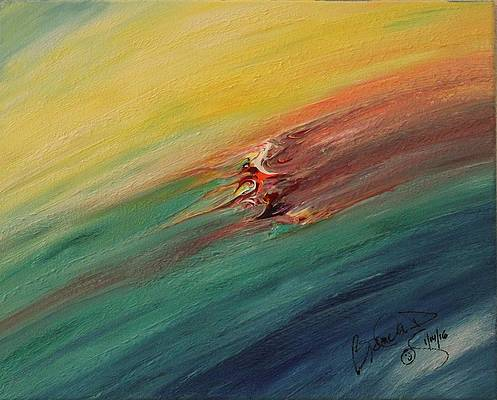 Abstract Acrylic Art Eostre Mons