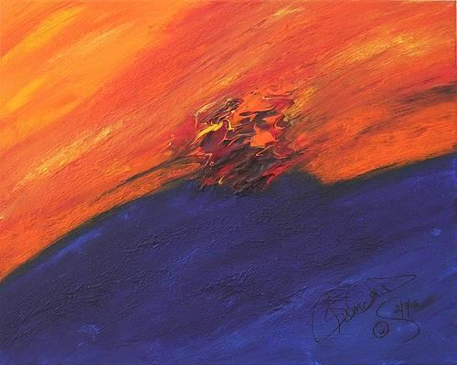 Abstract Acrylic Art Gula Mons
