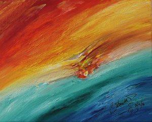 Abstract Acrylic Art Ilithyia Mons
