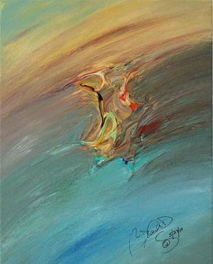 Abstract Acrylic Art Danu Mons by Brenda Basham Dothage