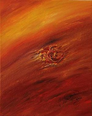 Abstract Acrylic Art Egle Mons by Brenda Basham Dothage