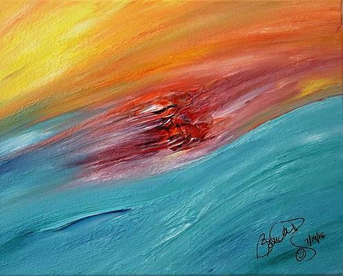 Abstract Acrylic Art Freyja Mons