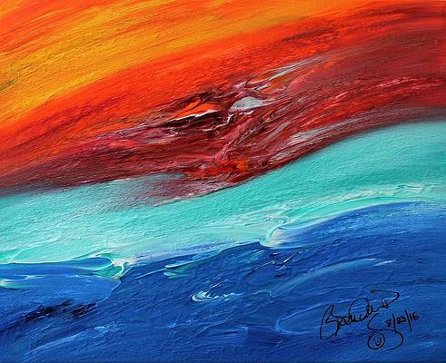 Abstract Acrylic Art Lamashtu Mons