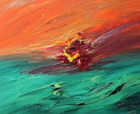 Abstract Acrylic Art Rhea Mons