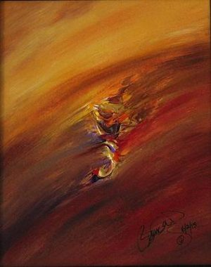 Abstract Acrylic Art Fand Mons