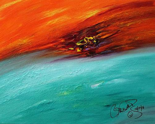 Abstract Acrylic Art Tepev Mons