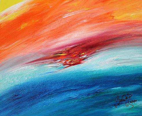Abstract Acrylic Art Sarasvati Mons