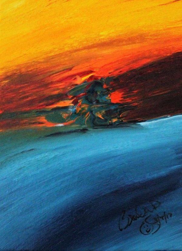 Abstract Acrylic Art Iseghey Mons
