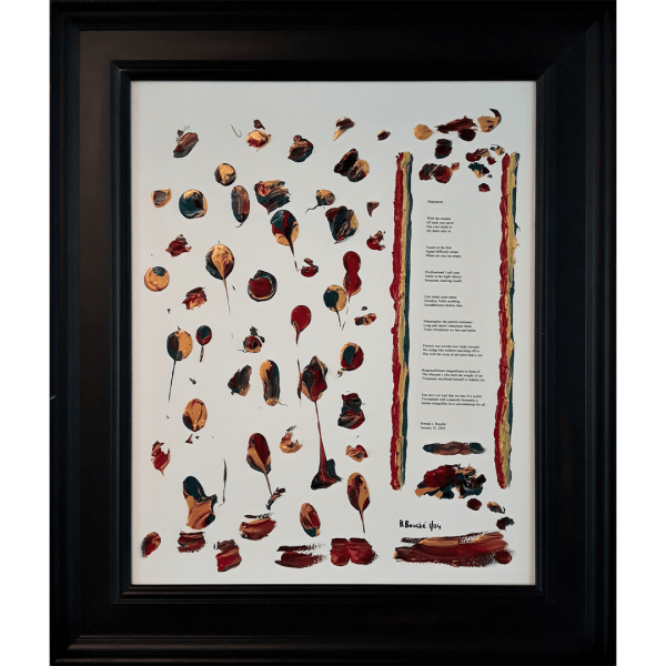 Original Poetry Painting Heartstone