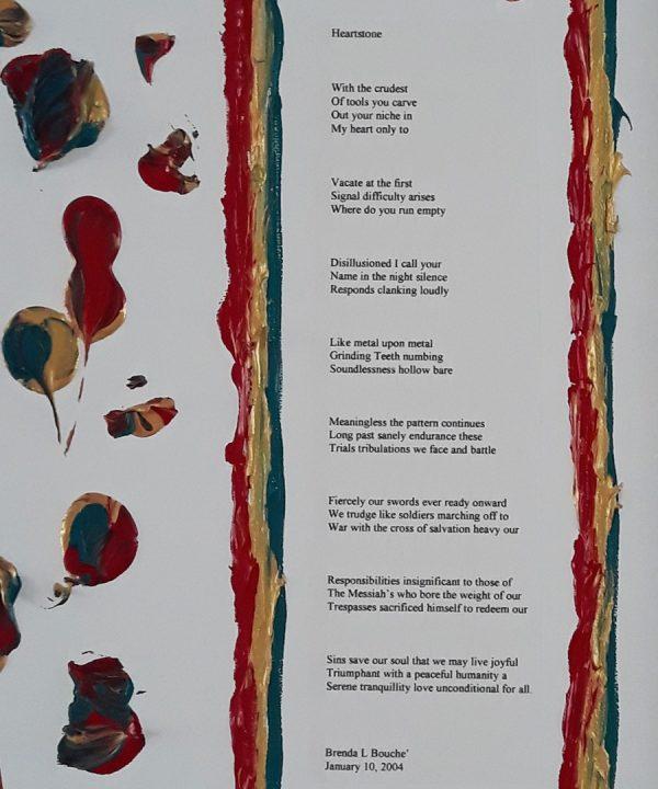 Original Poetry Painting Heartstone Poem