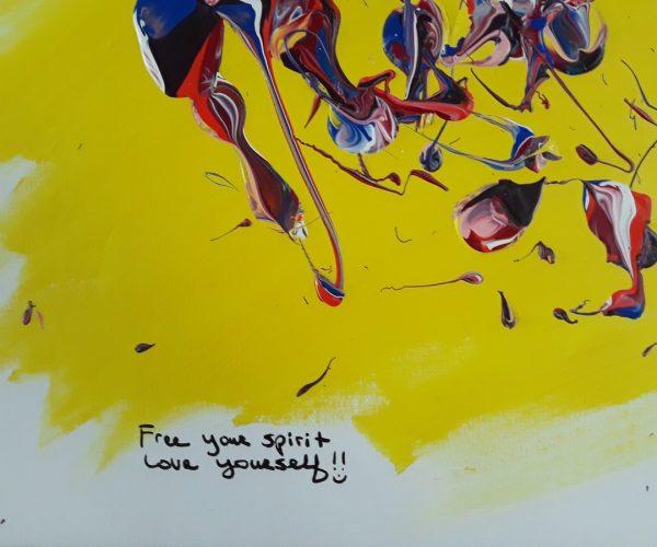 Original Poetry Painting Free Your Spirit Poem