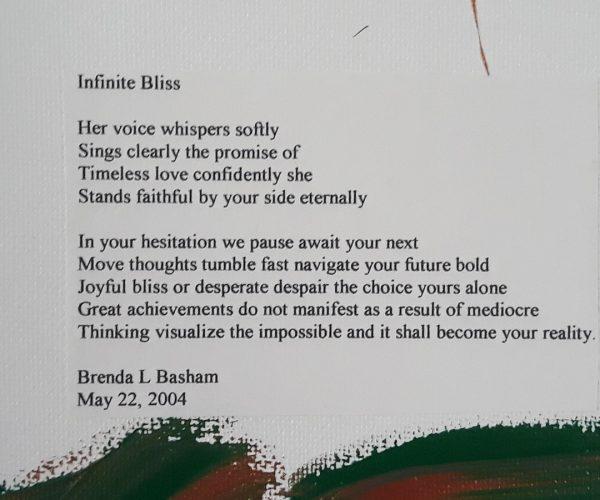 Original Poetry Painting Infinite Bliss Poem