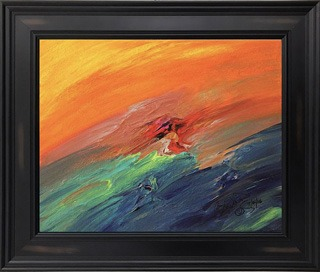Original Acrylic Abstract Framed