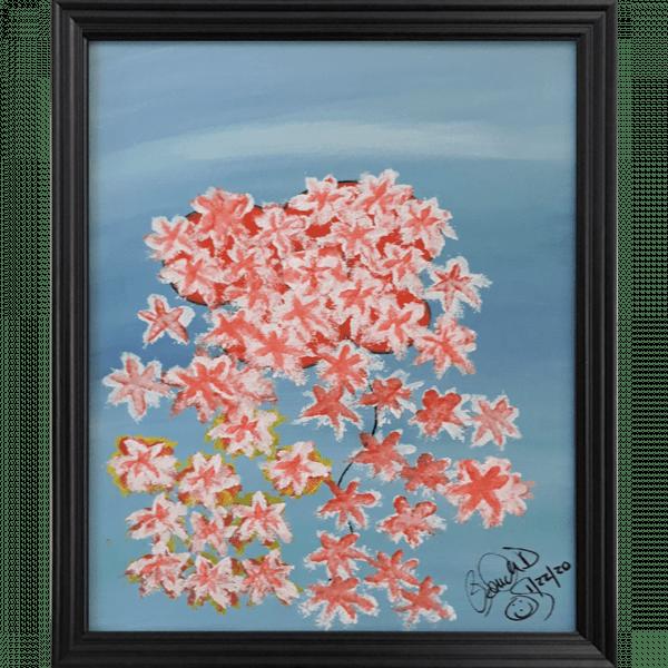 Original Oil Painting Orange Flowers
