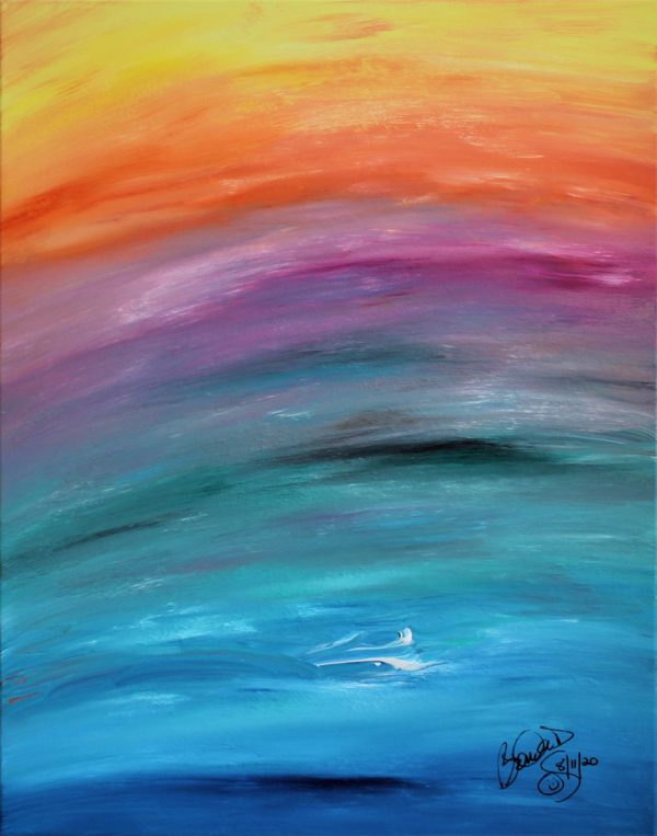 Abstract Acrylic Art Chalce Mons