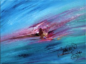 Abstract Acrylic Art Hibes Mons