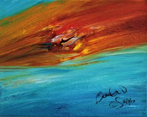 Abstract Acrylic Art Libya Mons