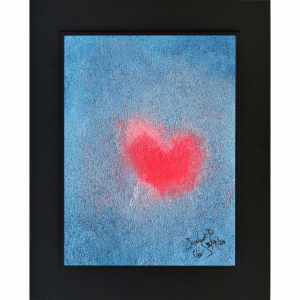 Original Oil Painting Heart Beat
