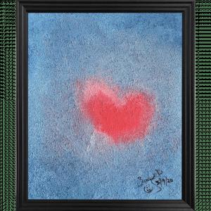 Original Oil Painting Heart Beat