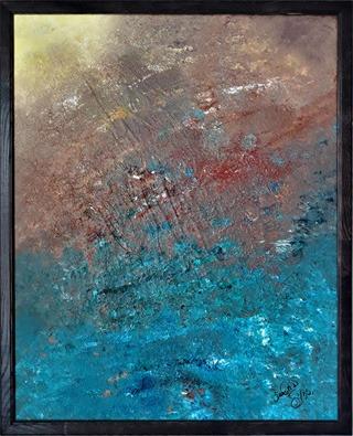 Original Acrylic Abstract Framed